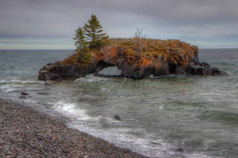 La grande prenotazione indiana di Portage sull'angolo del nord lontano del Minnesota confina Ontario, Canada fotografia stock