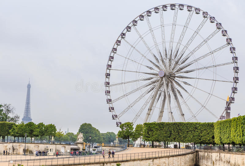 La Grande Roue Ferris Wheel, near the Place de la Concorde, Paris stock image