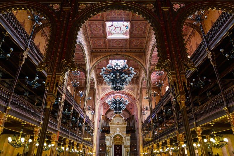 La grande sinagoga a Budapest immagine stock libera da diritti