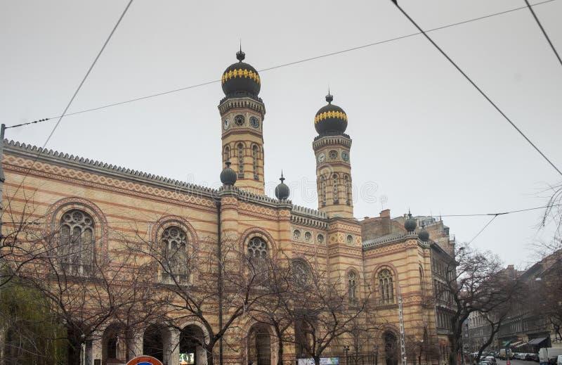 La grande sinagoga a Budapest alla via di Dohany immagini stock