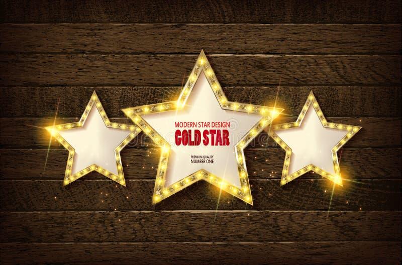 La grande stella con tantissime luci è accesa illustrazione vettoriale