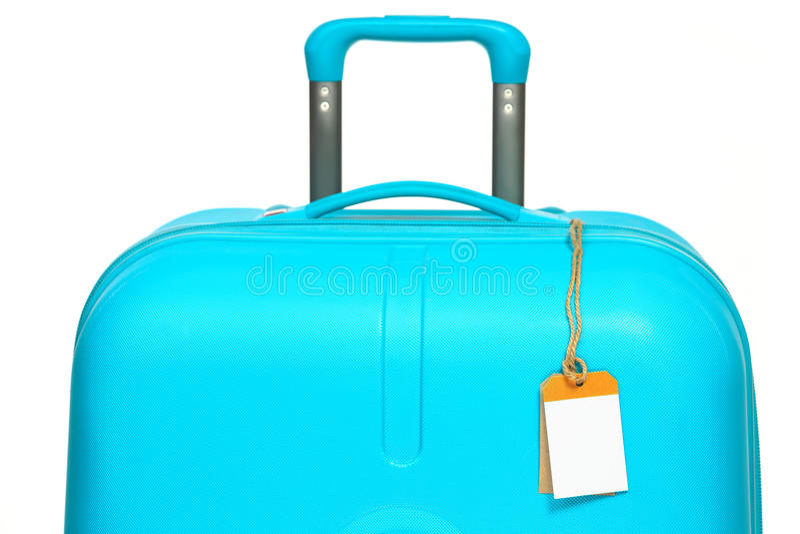 La grande valigia moderna su fondo bianco immagine stock