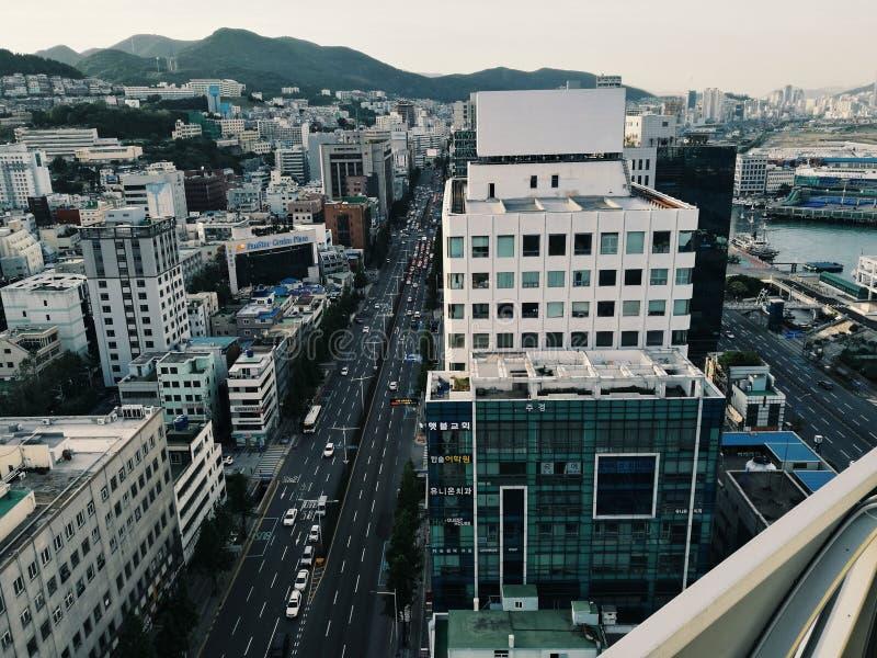 La grande vie de ville image stock