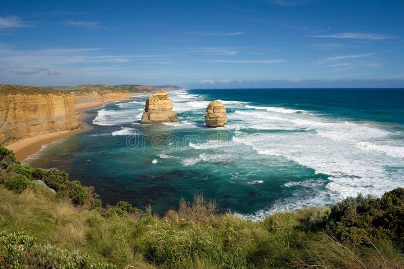 La grande vista della strada dell'oceano fotografie stock libere da diritti