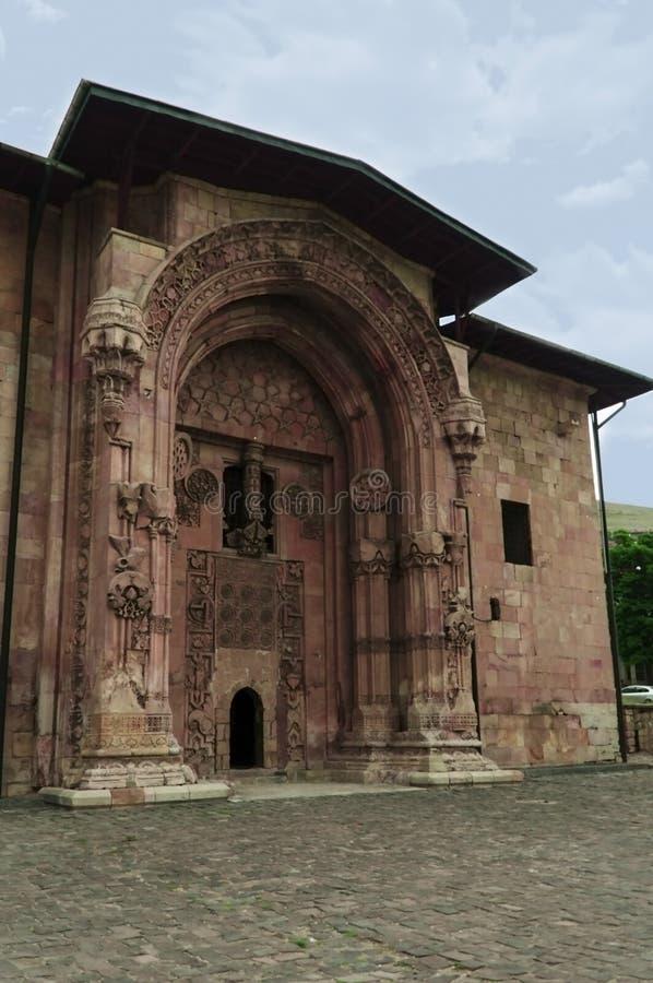 La grandes mezquita y hospital de Divrigi es una mezquita adornado adornada fotos de archivo libres de regalías