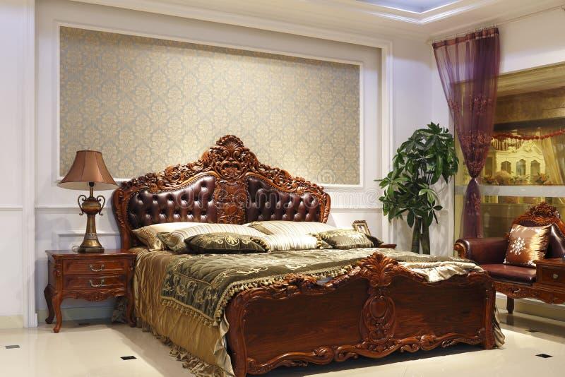 La grandiosità della camera da letto fotografie stock