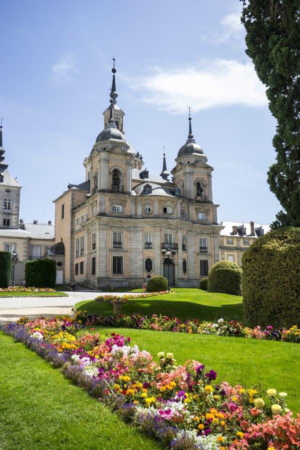 La Granja de San Ildefonso di Palacio de a Madrid, Spagna Beautifu fotografia stock