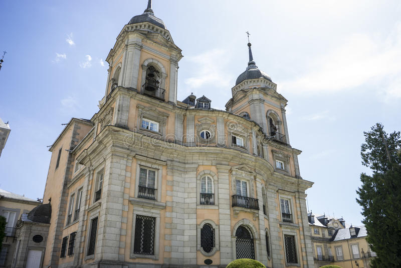 La Granja de San Ildefonso di Palacio de a Madrid, Spagna Beautifu fotografie stock libere da diritti