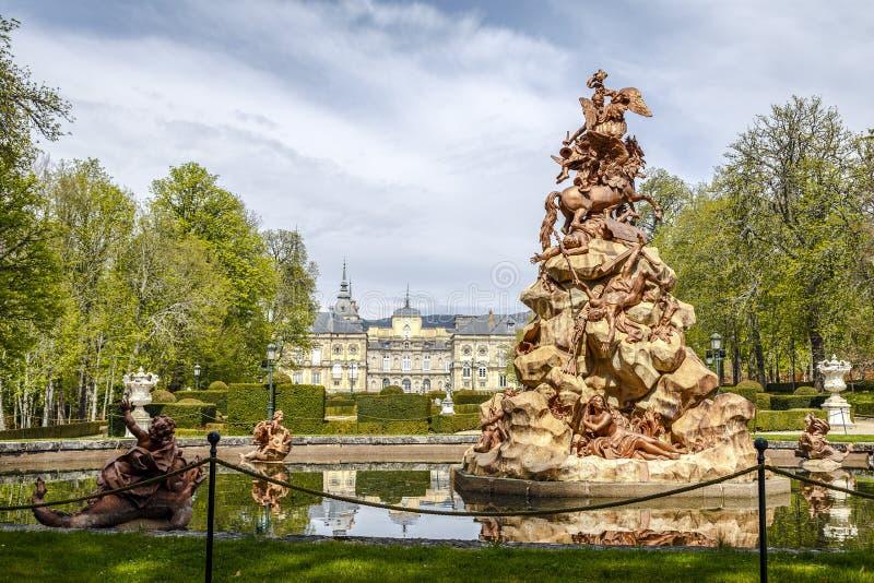 Pegaso Fountain And Garden Of Villa Lante Stock Image ...