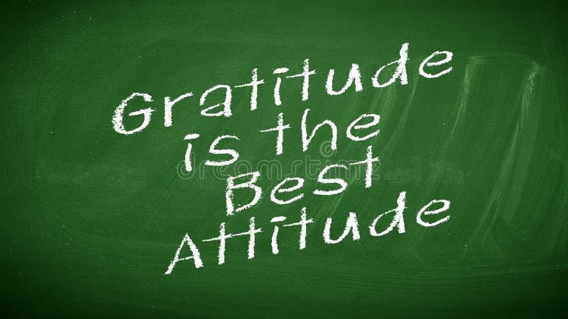 La gratitude est la meilleure attitude photos libres de droits