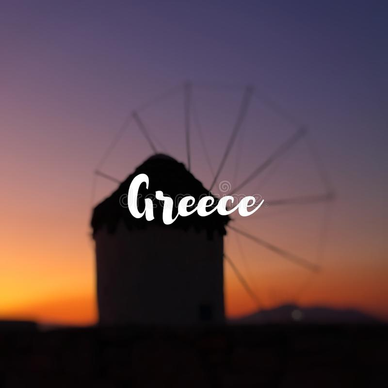 La Grecia al tramonto in Mykonos fotografie stock libere da diritti