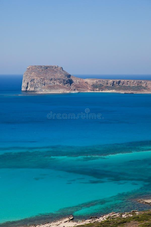 La Grecia, Creta, Gramvoussa, vista della natura fotografie stock