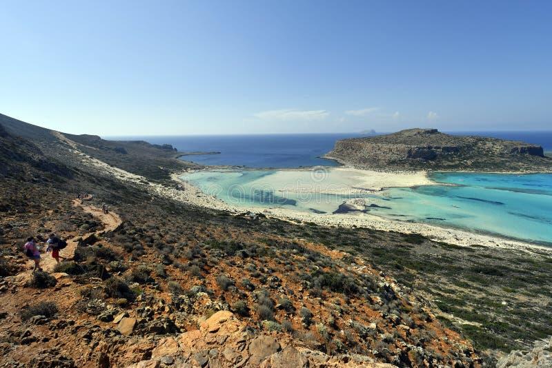 La Grecia, Creta, laguna sbalorditiva di Balos fotografia stock libera da diritti