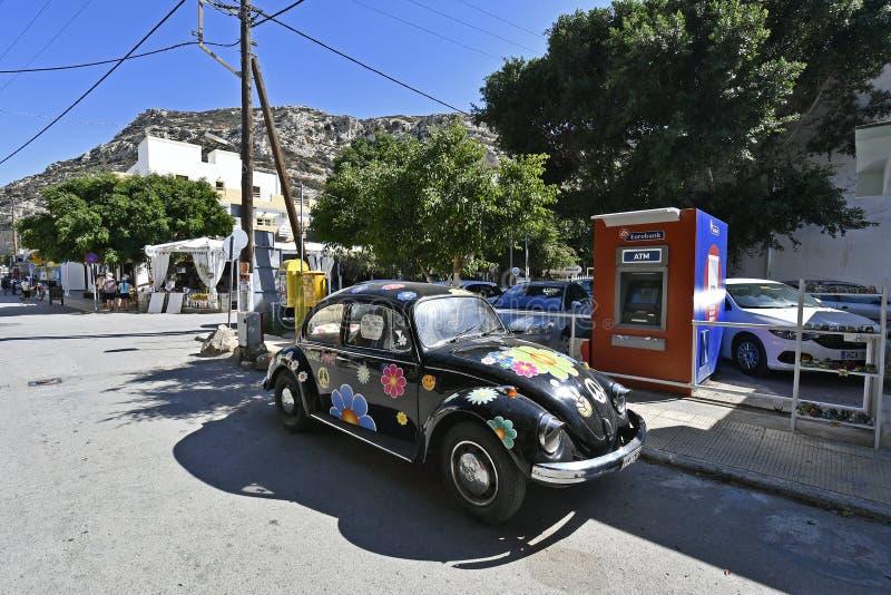 La Grecia, Creta, Matala, tempo di hippy fotografie stock