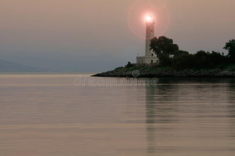La Grecia, faro fotografie stock