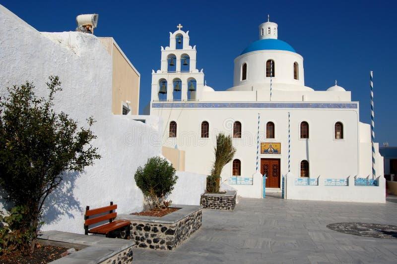 La Grecia, Santorin, chiesa della Vergine Santa fotografia stock