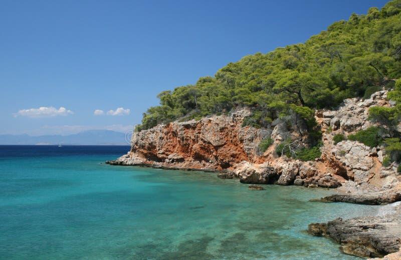La Grecia, spiaggia fotografie stock