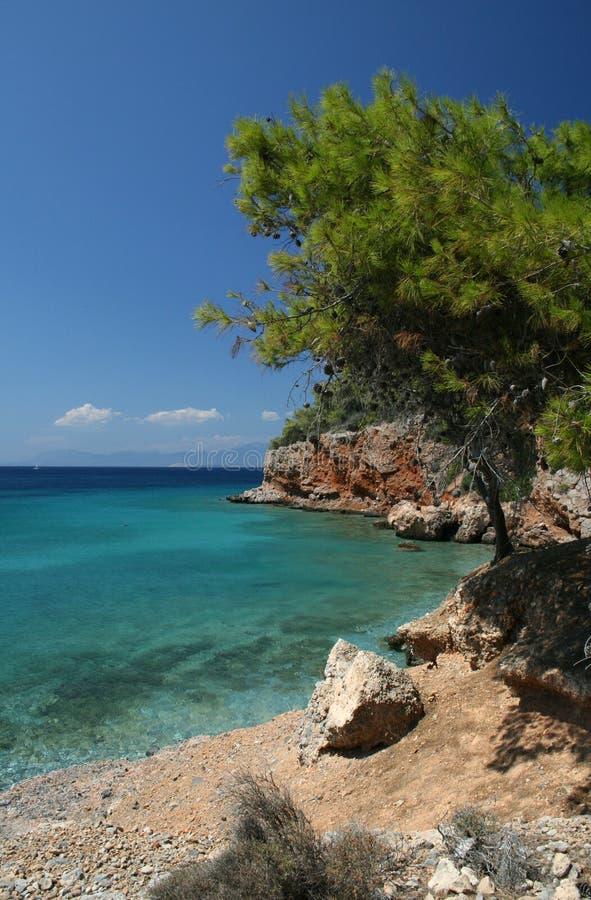 La Grecia, spiaggia fotografia stock