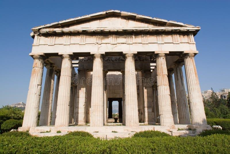 La Grecia, tempiale di Hephestus fotografia stock libera da diritti