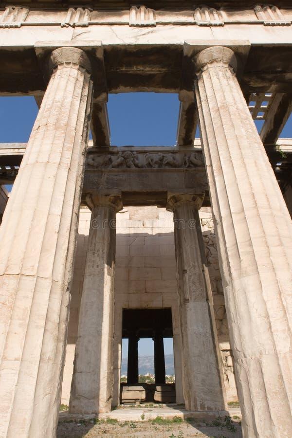 La Grecia, tempiale di Hephestus (il Thission) immagini stock libere da diritti