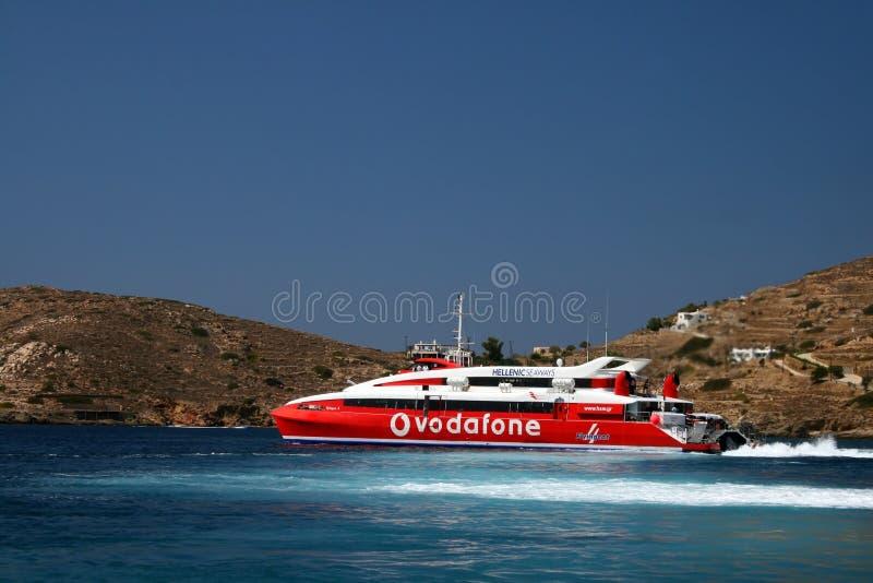 La Grecia, traghetto ellenico delle rotte fotografie stock libere da diritti