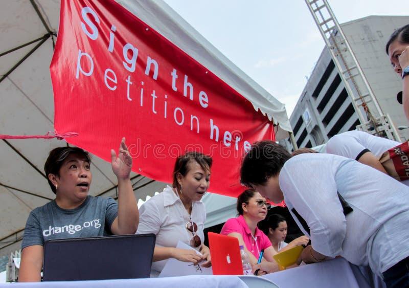 La greffe et la corruption protestent à Manille, Philippines photographie stock libre de droits