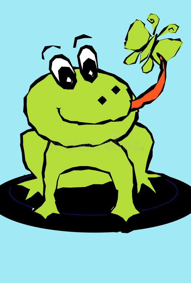 La grenouille mangent illustration stock