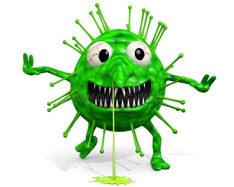 La grippe - vient pour vous ! illustration de vecteur