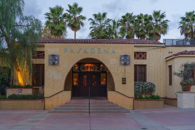 La-großes orange Café in Pasadena lizenzfreies stockfoto