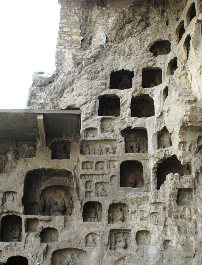 la grotte longmen photographie stock