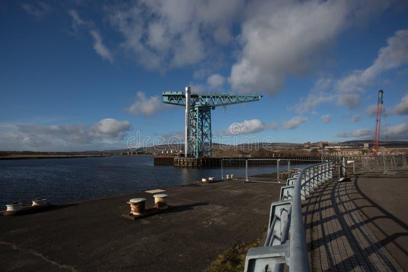 La gru del titano a Clydebank fotografia stock libera da diritti