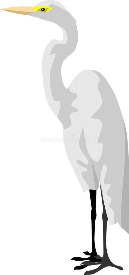 La grue blanche illustration de vecteur