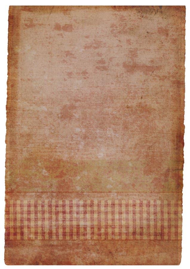la grunge a souillé la partie de papier fabriquée à la main dans le rose illustration libre de droits
