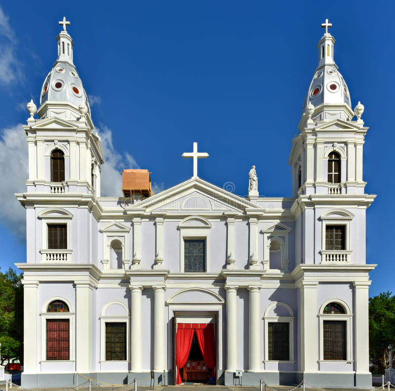 La Guadalupe Cathedral - Ponce, Puerto Rico stock images