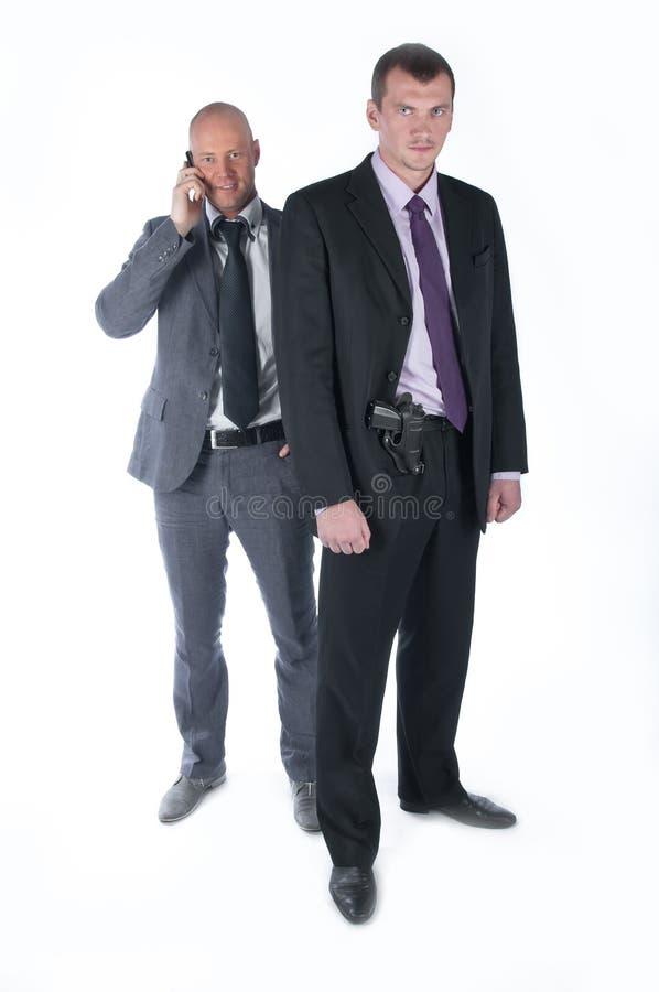La guardia del corpo dell'uomo d'affari immagine stock