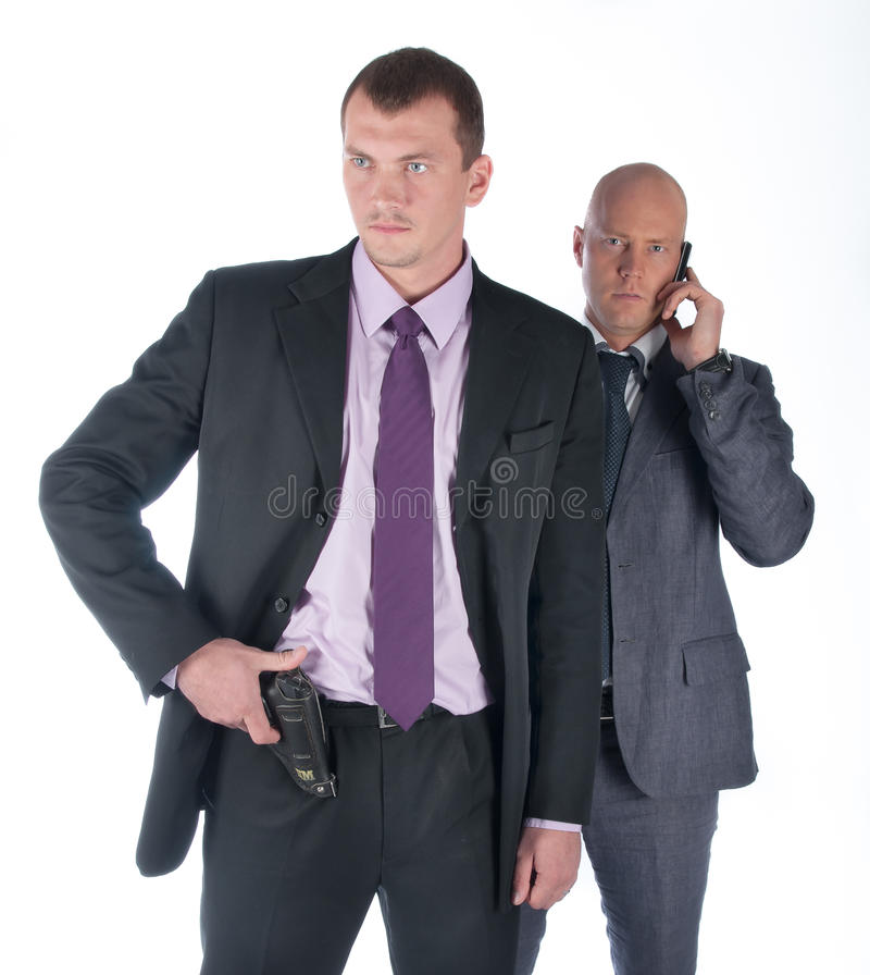La guardia del corpo dell'uomo d'affari fotografie stock libere da diritti