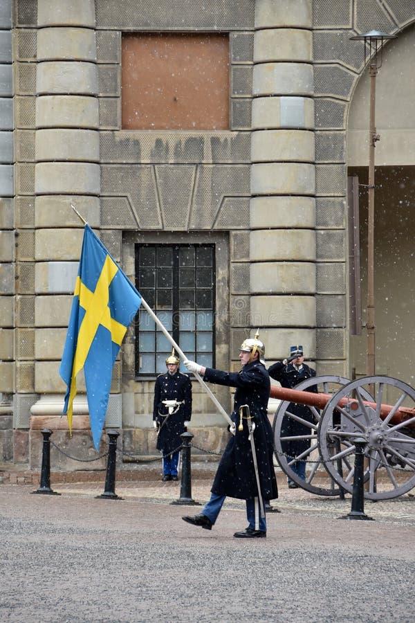 La guardia reale della Svezia immagine stock
