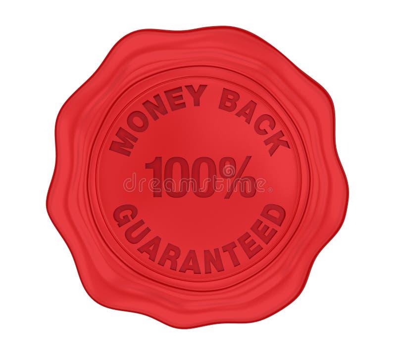 La guarnizione 100% della cera garantita parte posteriore dei soldi ha isolato royalty illustrazione gratis