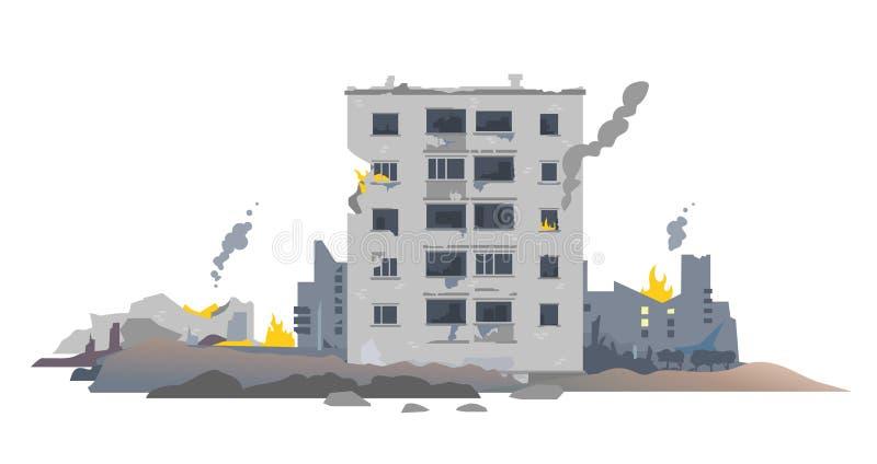 La guerra destruyó edificios de la ciudad libre illustration