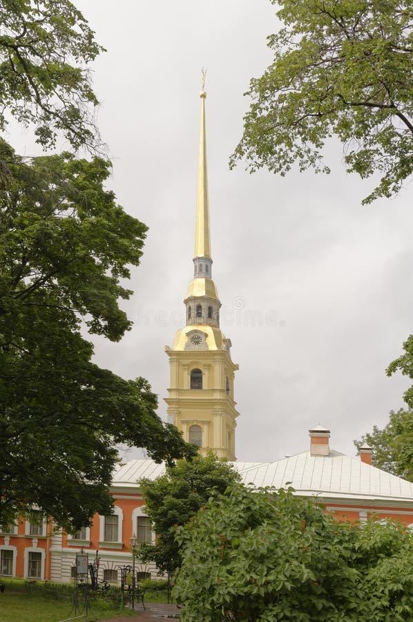 La guglia del Peter e di Paul Cathedral a St Petersburg immagini stock