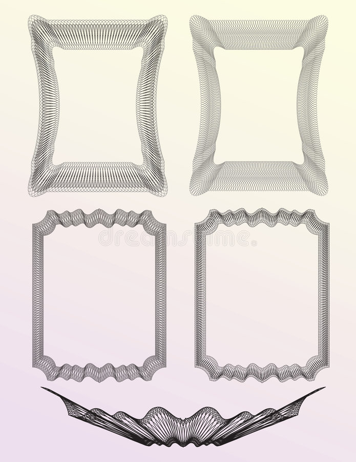 La guilloche a placé 02 illustration libre de droits