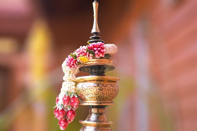 La guirnalda tailandesa es hecha a mano de Tailandia foto de archivo