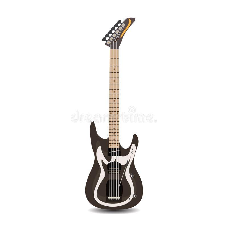 La guitare soloe électrique, dirigent l'illustration plate illustration libre de droits