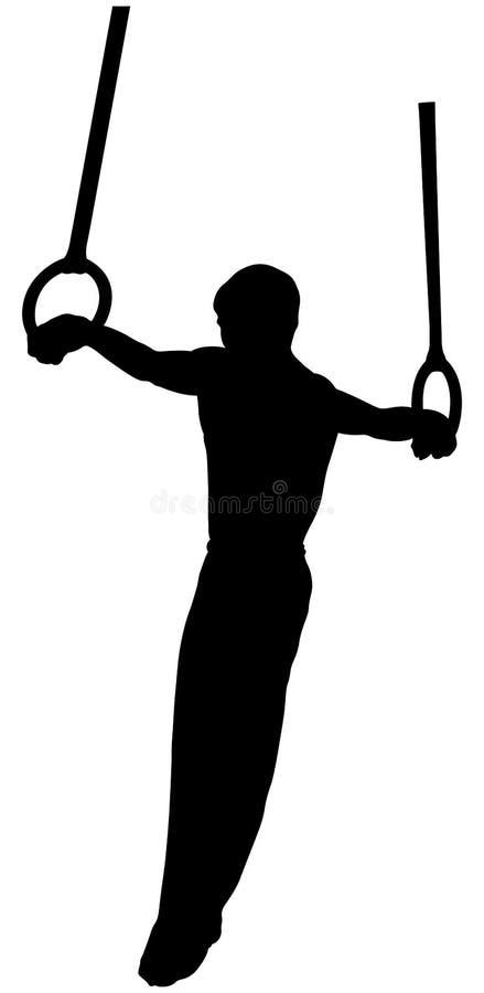La gymnastique sonne l'athlète croisé illustration stock