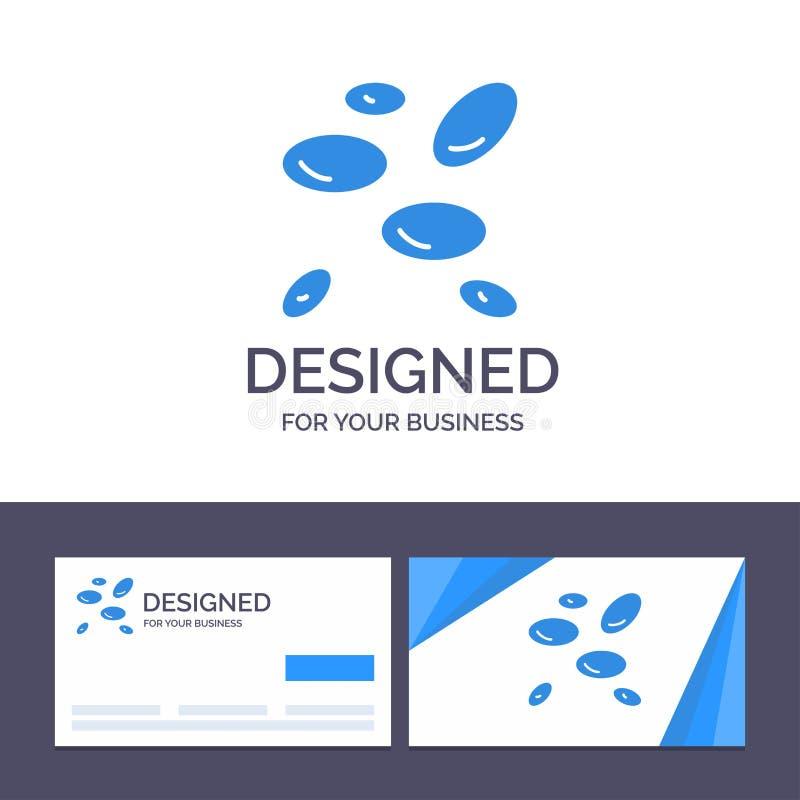 La hématologie de visite de calibre créatif de carte de visite professionnelle et de logo, Wbcs, globules blancs, globules blancs illustration de vecteur