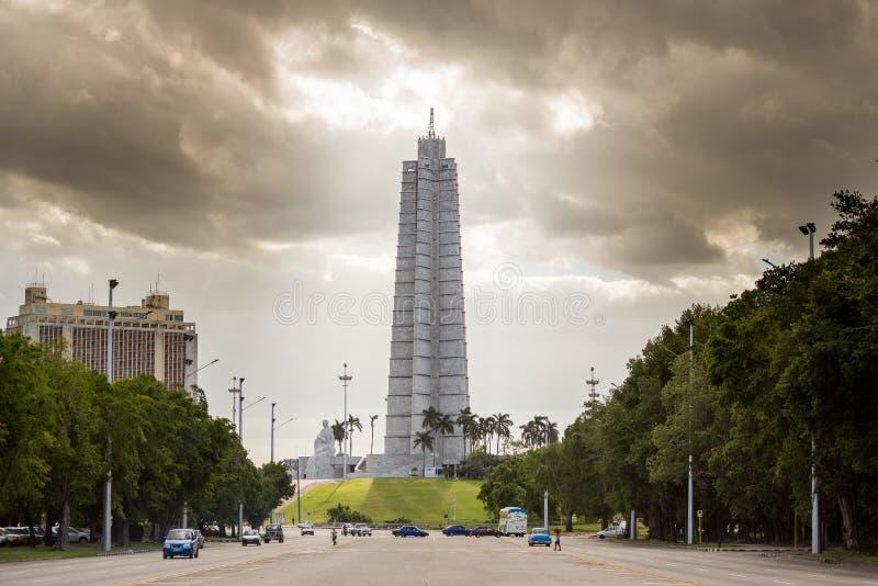 La Habana, Cuba - 30 de noviembre de 2017: Monumento de Jose Marti fotografía de archivo