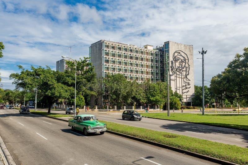 La Habana, Cuba - 29 de noviembre de 2017: Retrato cuadrado de la revolución, La Habana, Cuba imagenes de archivo