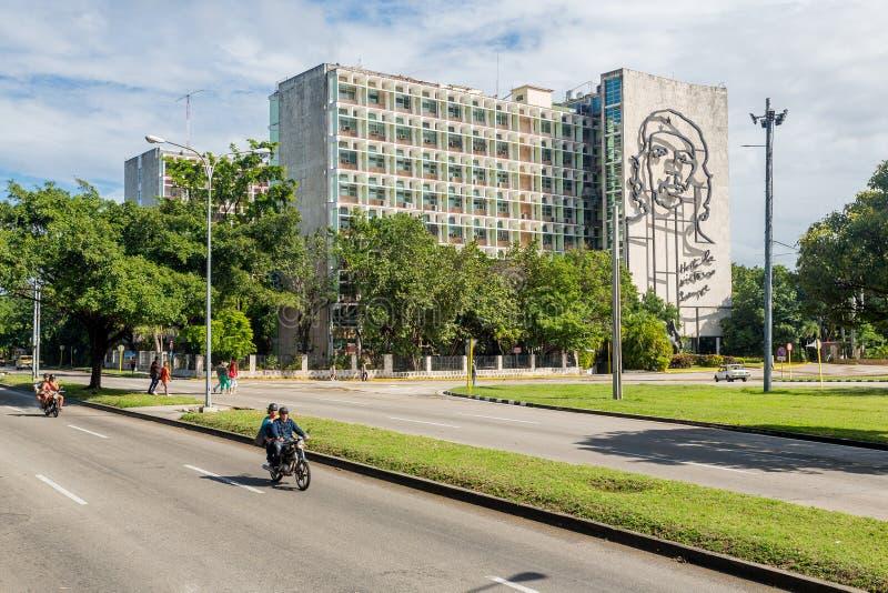 La Habana, Cuba - 29 de noviembre de 2017: Retrato cuadrado de la revoluci?n, La Habana, Cuba imagenes de archivo