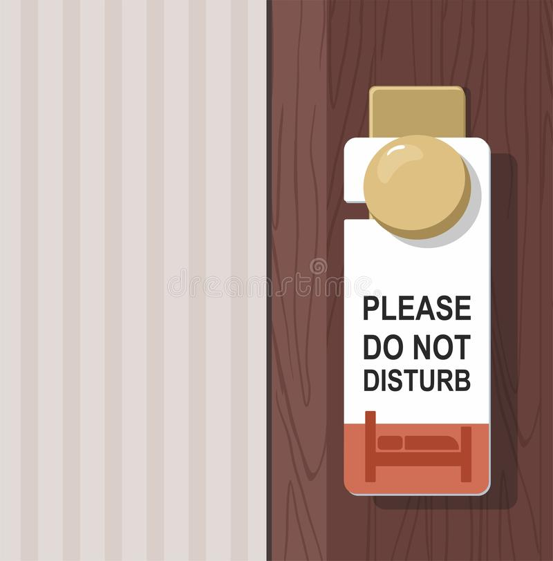 La habitación con NO PERTURBA la muestra en la puerta ilustración del vector