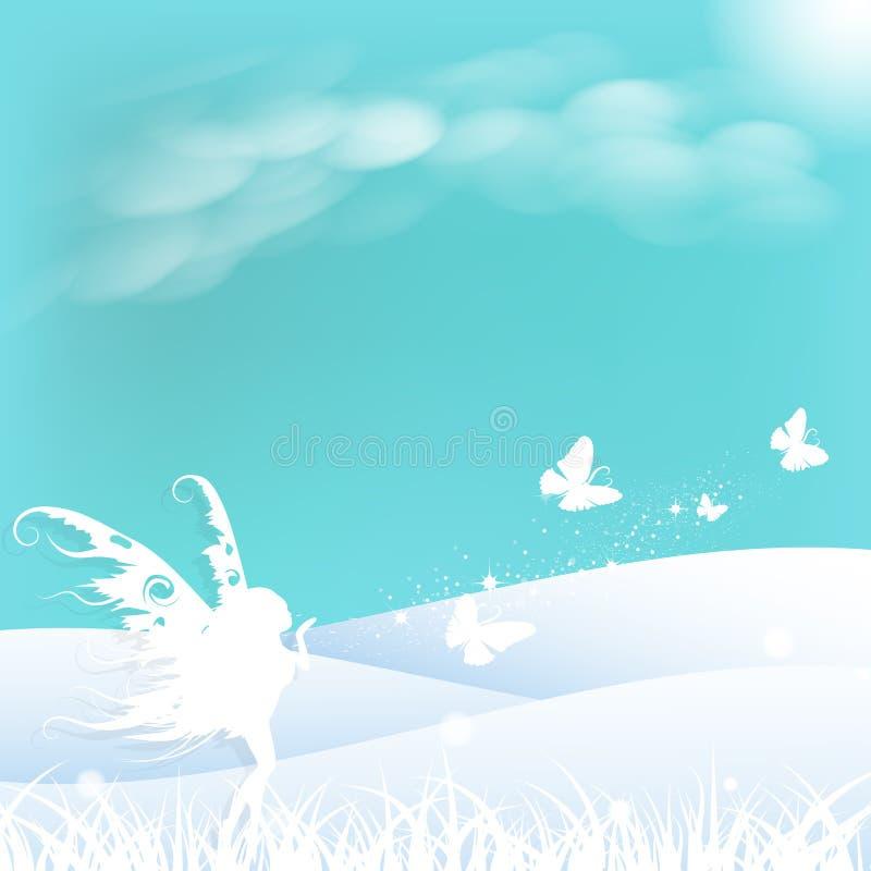 La hada con concepto de la fantasía del arte del papel de la mariposa protagoniza el balneario de la dispersión libre illustration
